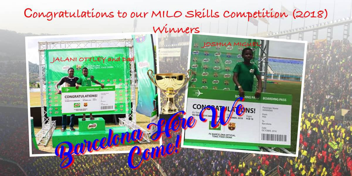 Milo Skills Competition Winners